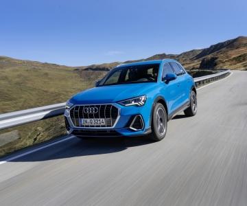 A frente do novo Audi Q3 é cheia de personalidade