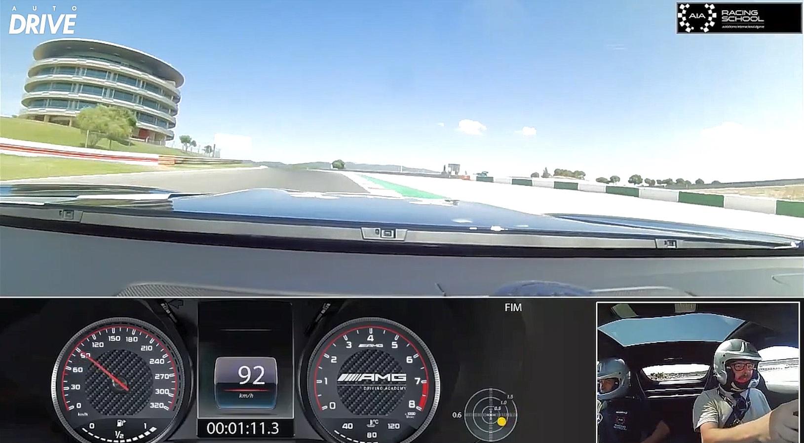 Volta completa com Mercedes-AMG GT no Autódromo Internacional do Algarve