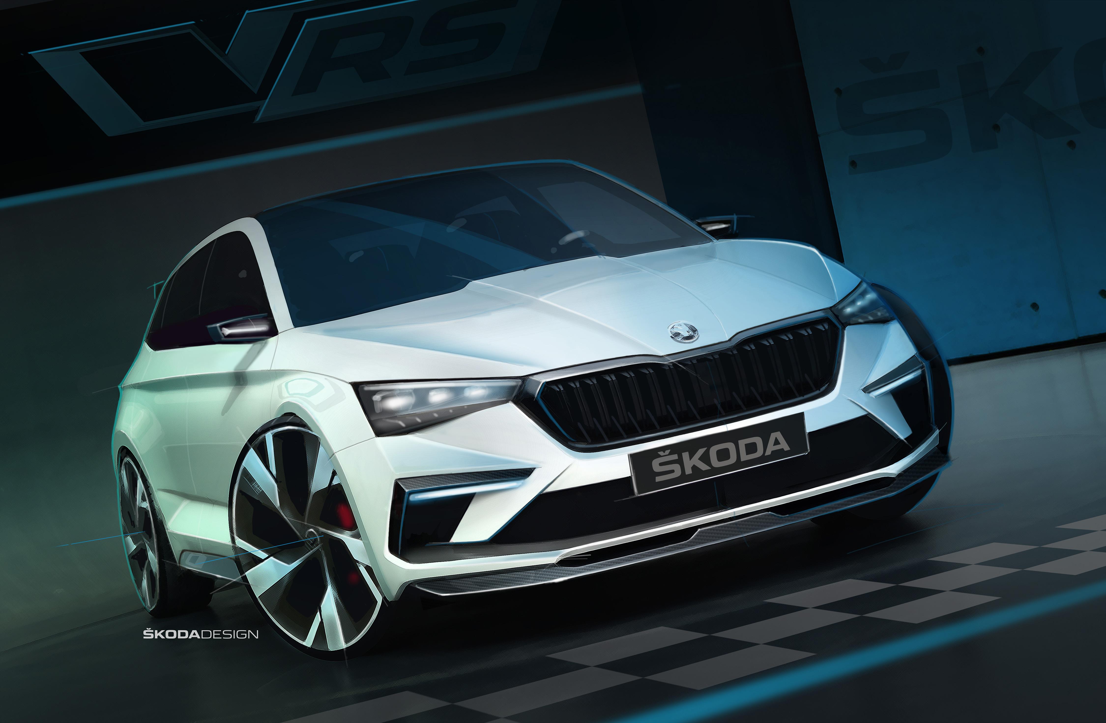 Sketch do Skoda Vision RS