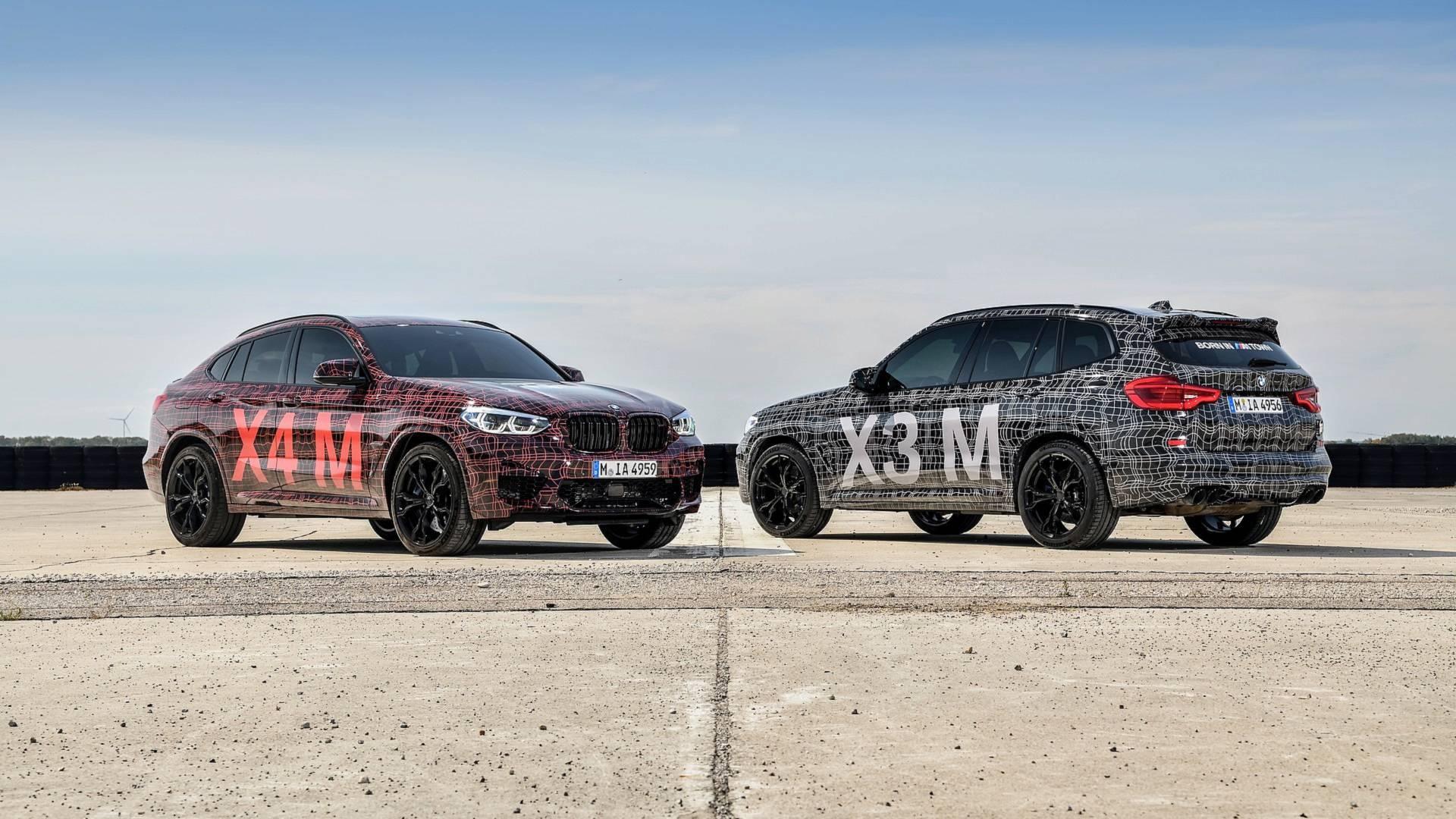 Protótipos BMW X3 M e X4 M em testes