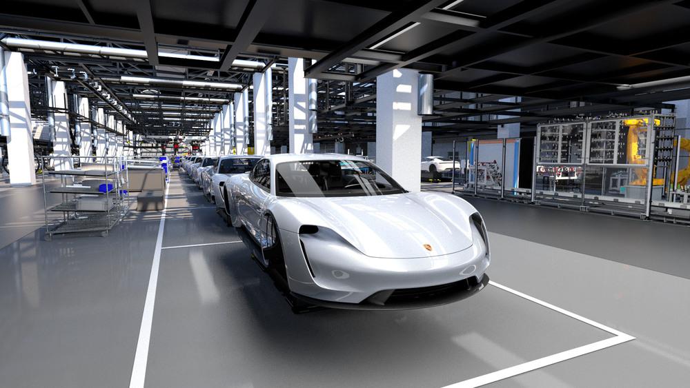 Protótipo do Porsche Taycan