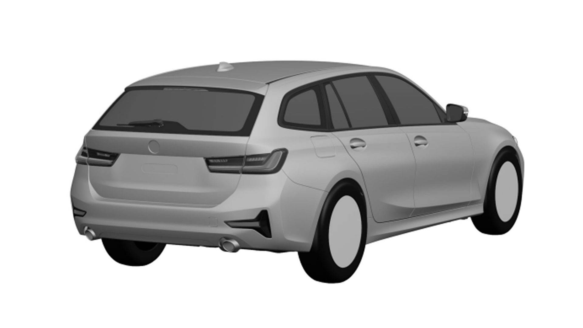 Imagem patente do novo BMW Série 3 Touring