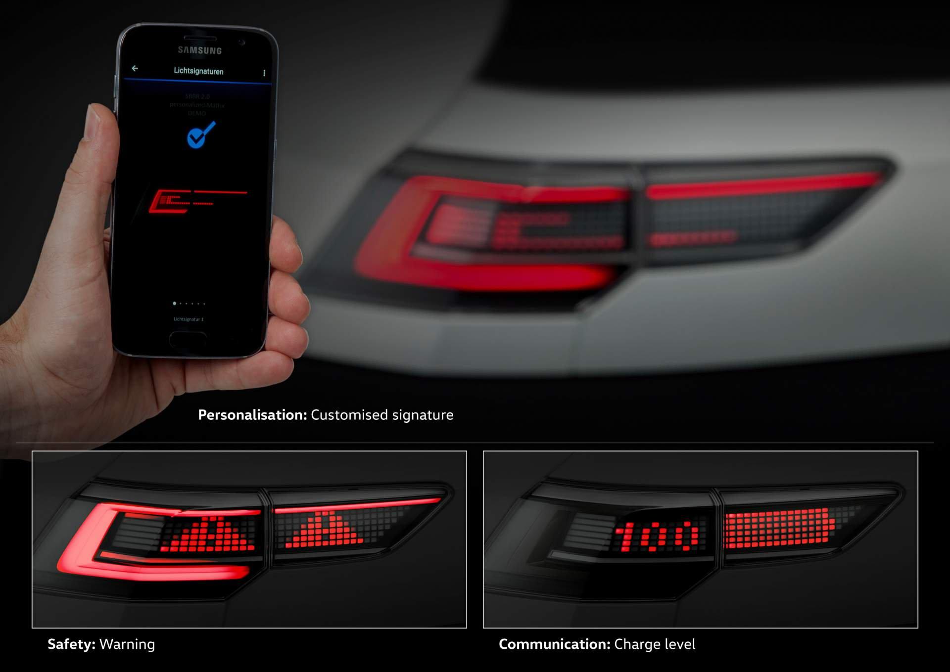 VW testa faróis interativos