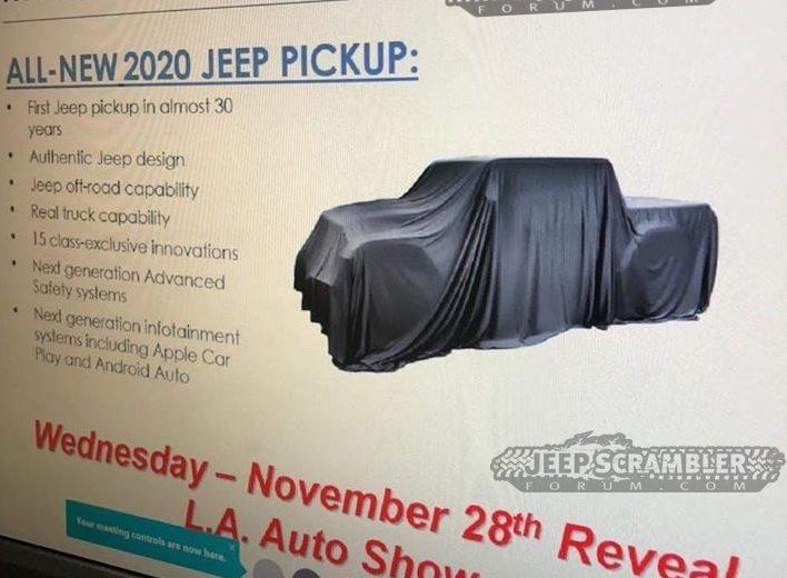 Variante pick-up do novo Wrangler estreia no fim do mês