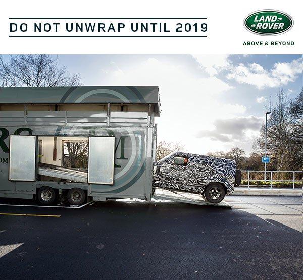 Teaser oficial do novo Land Rover Defender