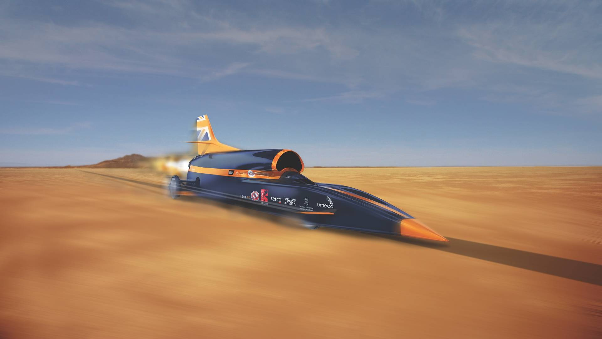 Bloodhound SSC pretende bater o recorde de velocidade terrestre de 1600 km/h