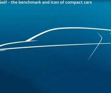Teaser da próxima geração do Volkswagen Golf