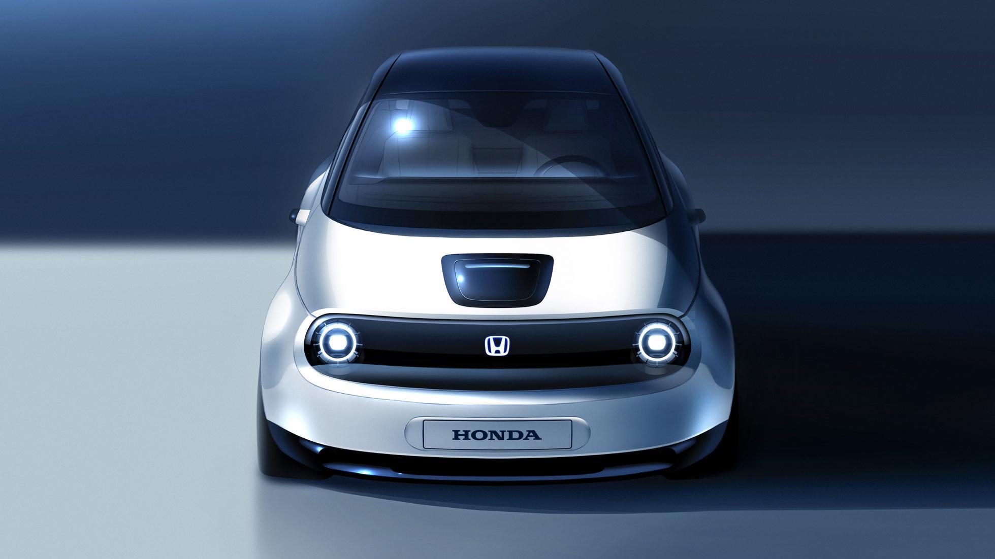 Sketch da versão de produção do Honda Urban EV