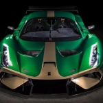 Aspeto do Brabham BT62 de pista