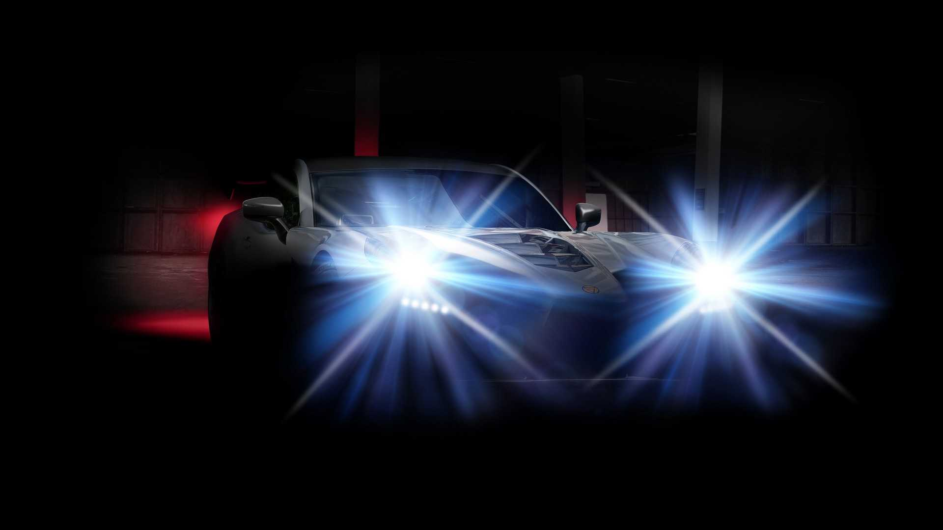Teaser do supercarro Ginetta