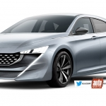 Render do possível aspeto do Peugeot 308 híbrido plug-in