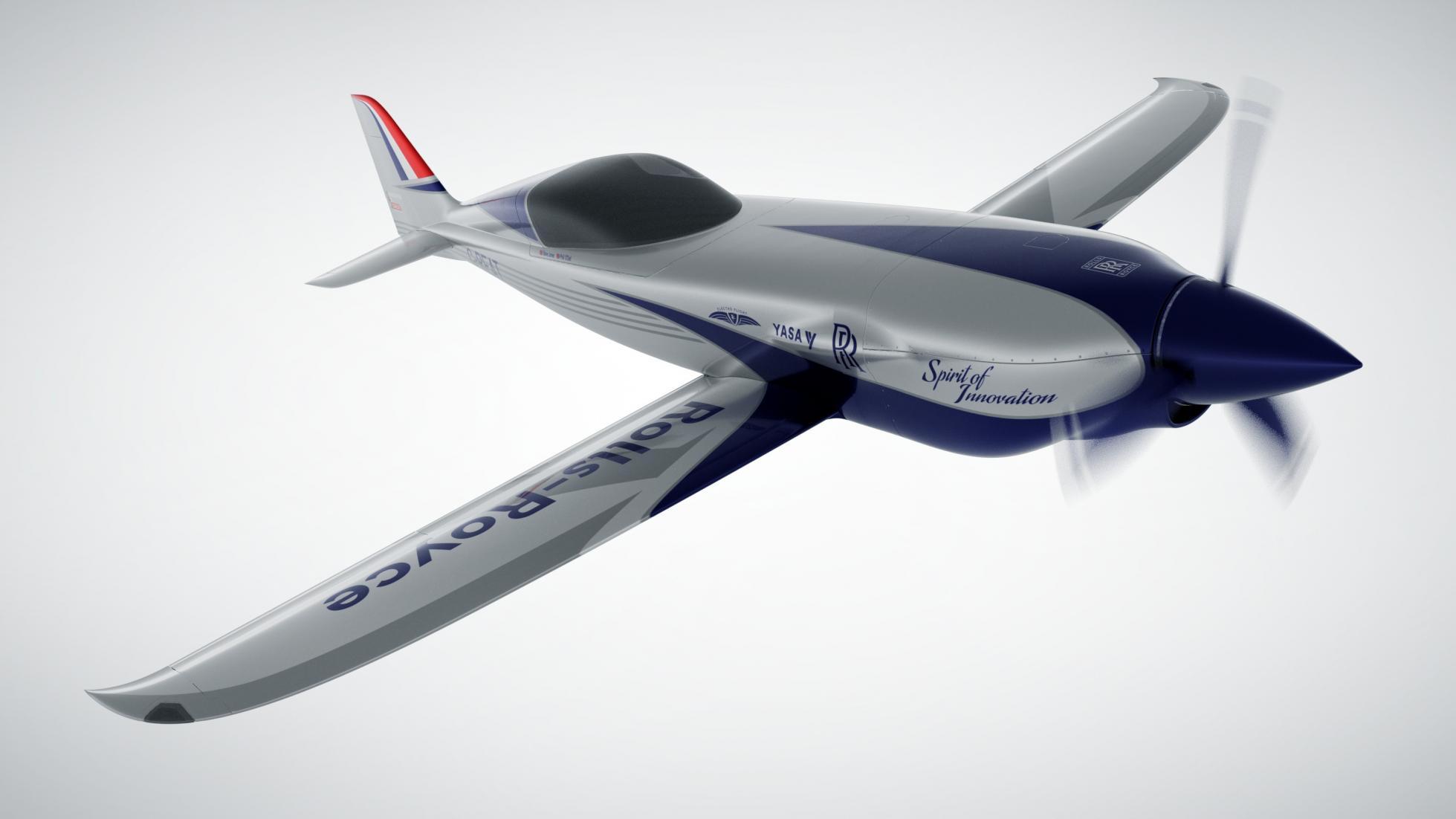 Aspeto para já virtual do avião elétrico da Rolls-Royce