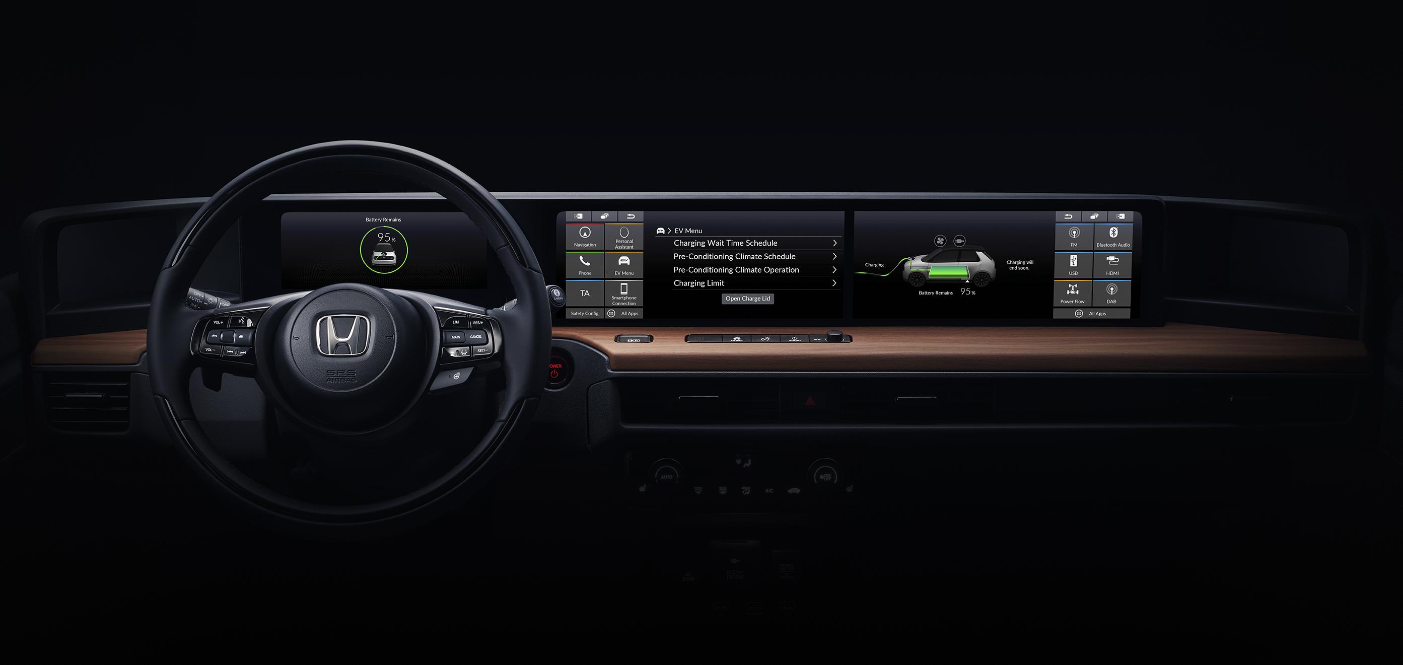 Interior do novo protótipo Honda Urban EV