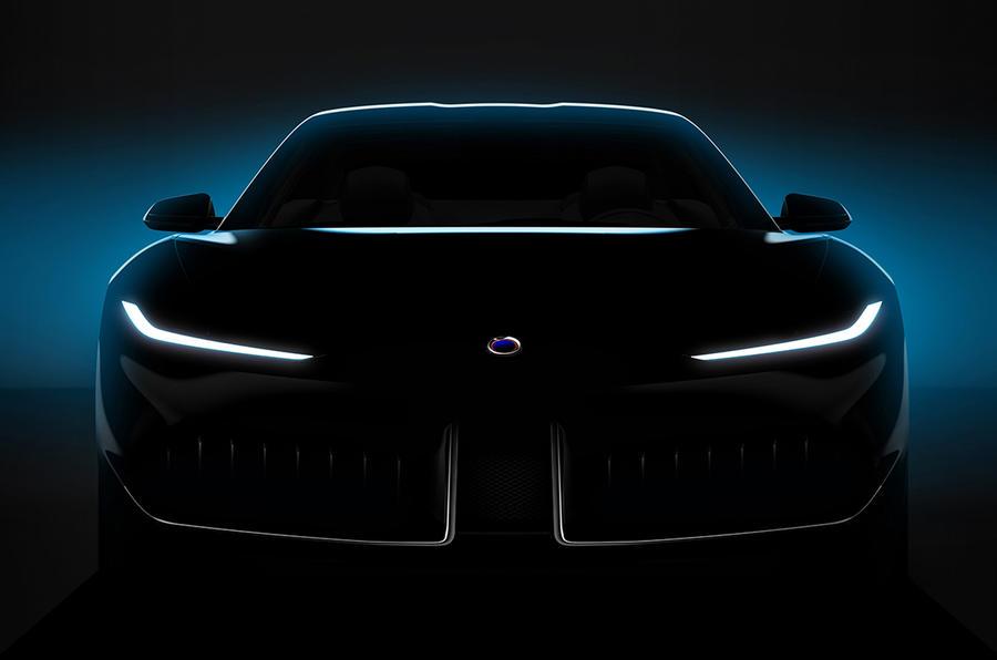 Teaser do protótipo Karma com assinatura Pininfarina
