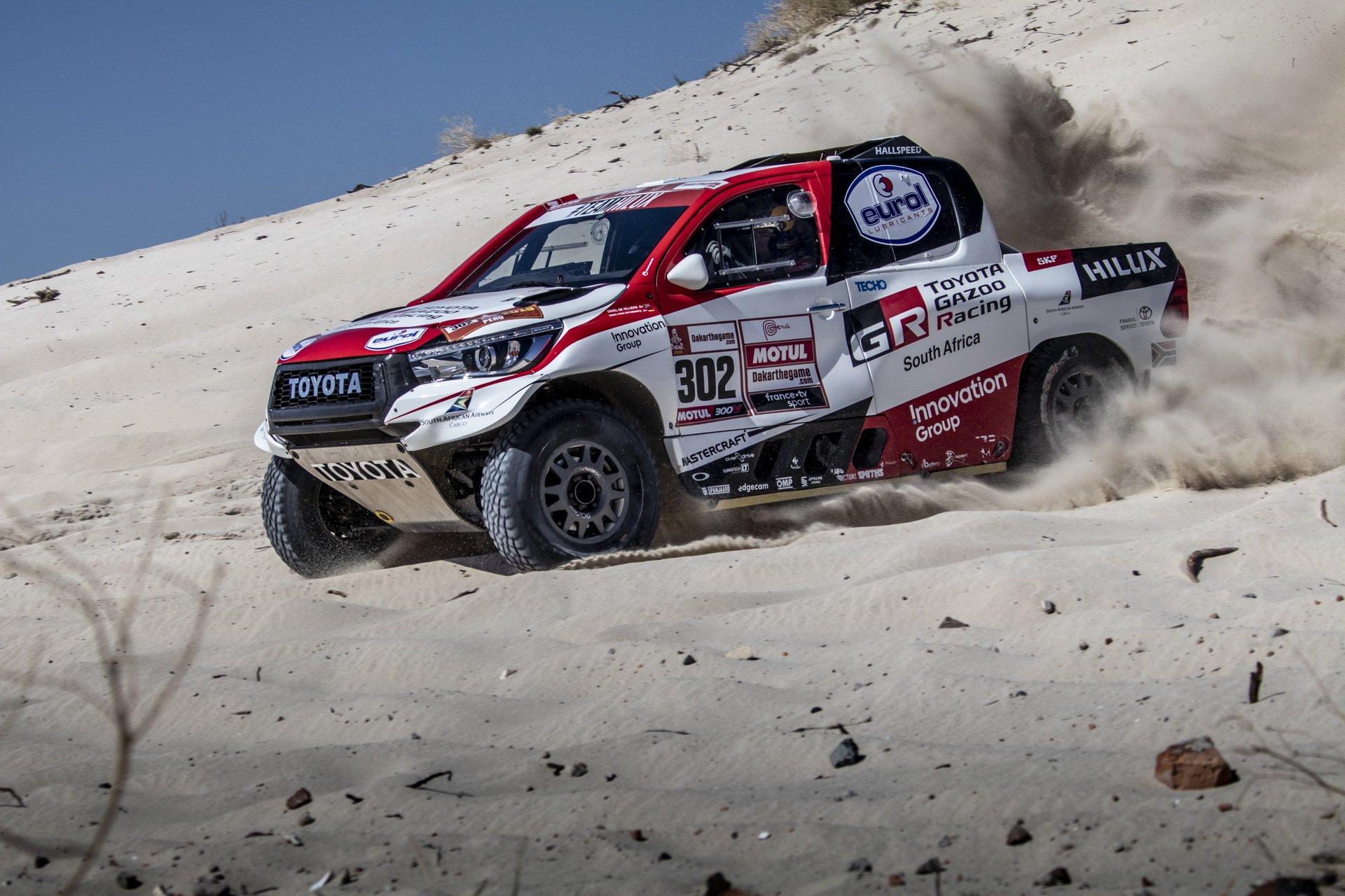 Toyota Hilux que venceu a edição deste ano do Dakar