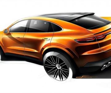 Primeiro sketch do Porsche Cayenne Coupé já circula na internet
