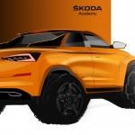 Sketch de um one-off de uma pick-up da Skoda