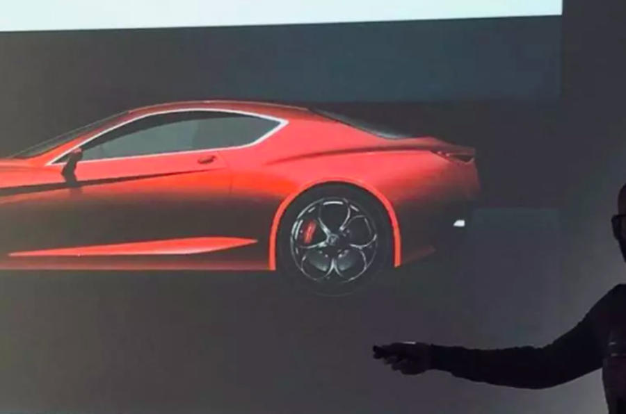 Sketch do novo Alfa Romeo GTV