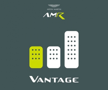 Teaser do novo Aston Martin Vantage AMR com caixa manual