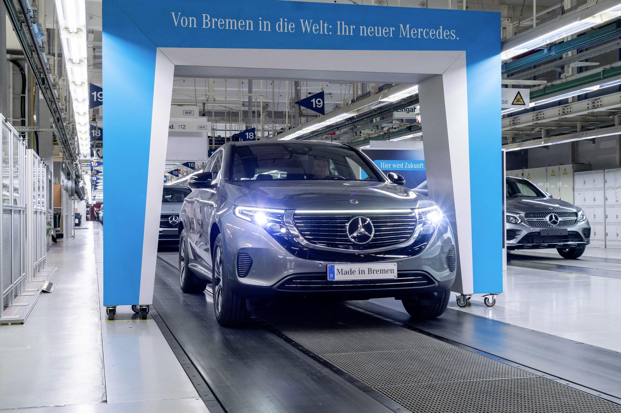 Mercedes-Benz EQC já começou a ser produzido em Bremen