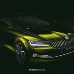 Sketch do renovado Skoda Superb