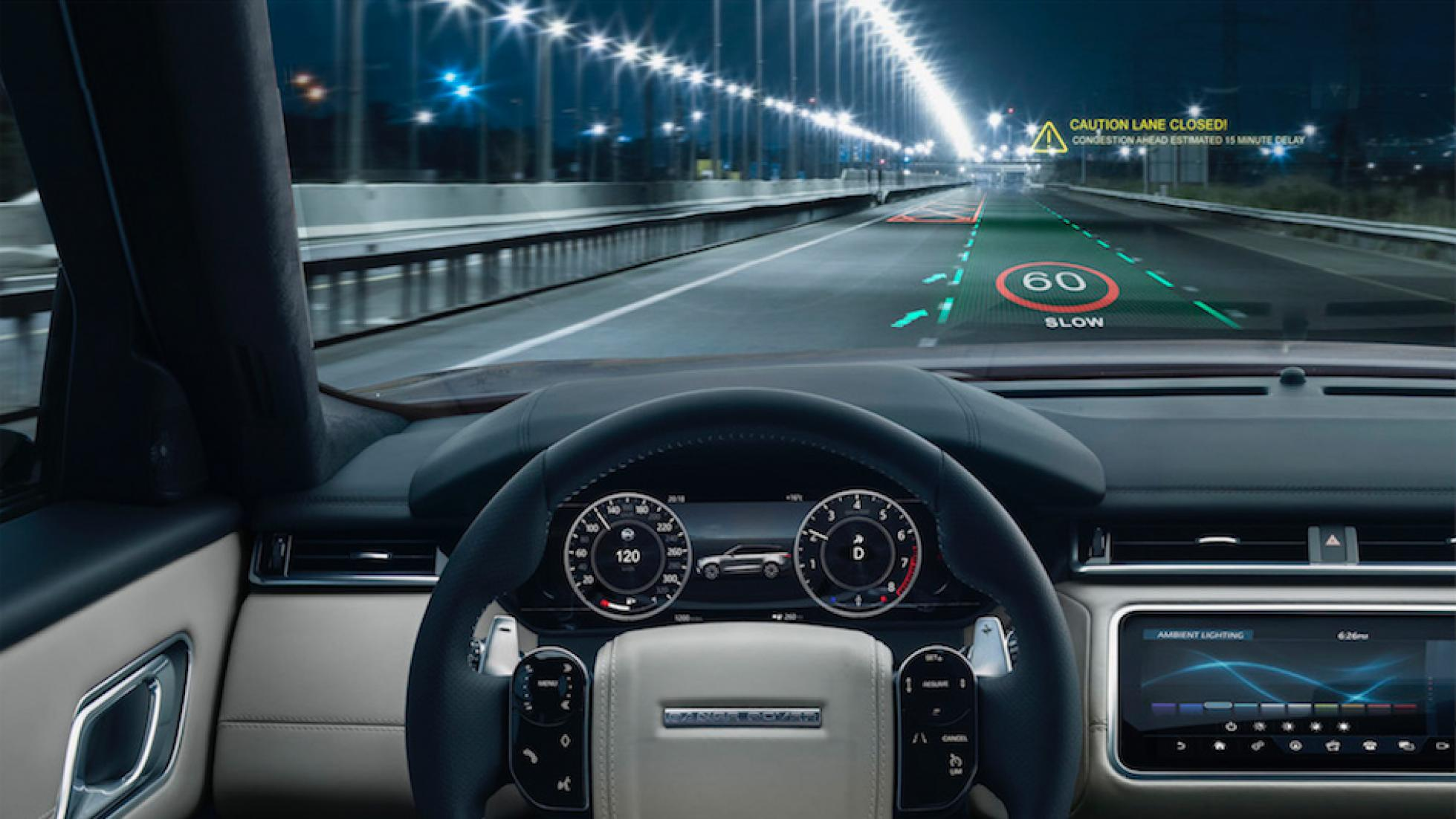 Head-up display 3D da Jaguar Land Rover