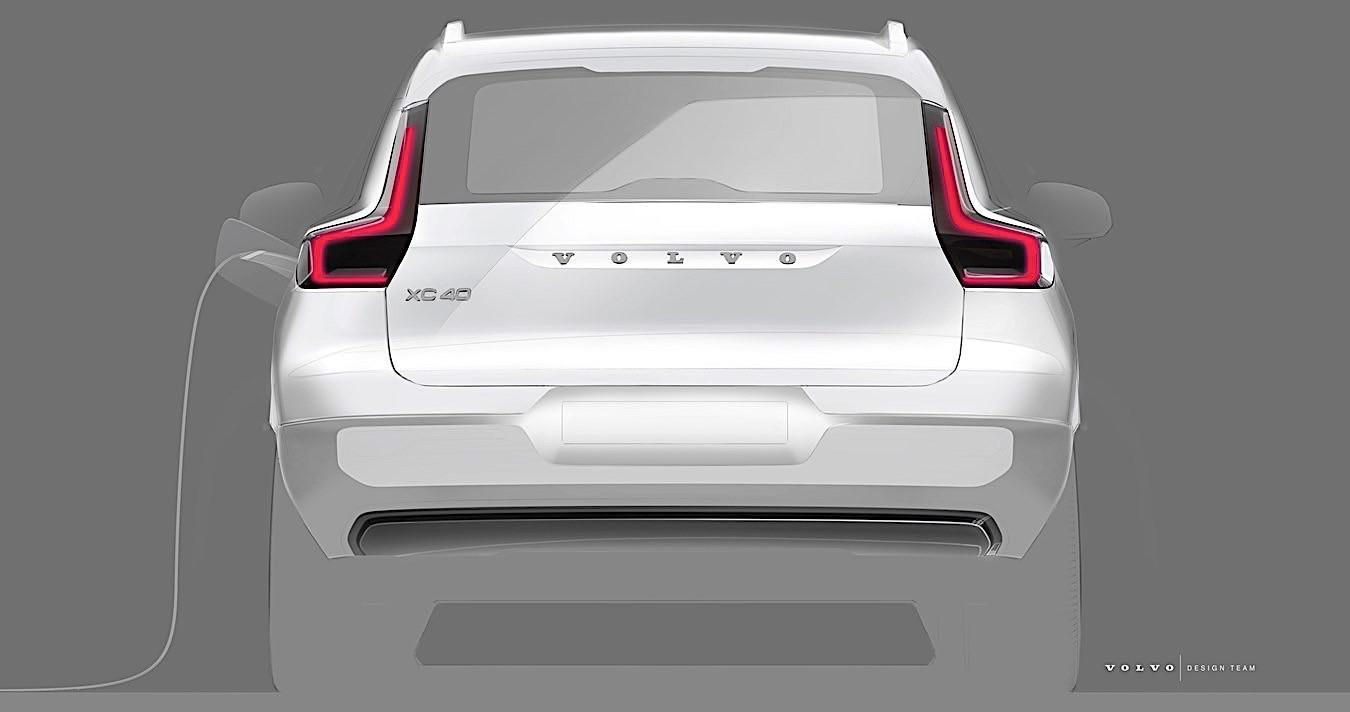 teaser do próximo Volvo XC40 elétrico