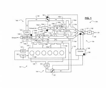 Imagem da patente do novo motor de seis cilindros em linha