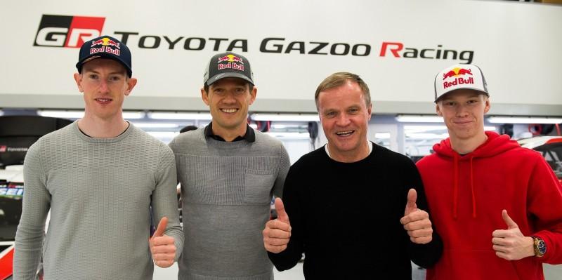 Novo trio de pilotos da Toyota com o líder da equipa Tommi Mäkinen