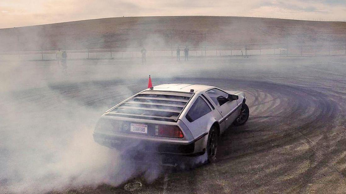 MARTY é o nome de um DeLorean preparado para drfit