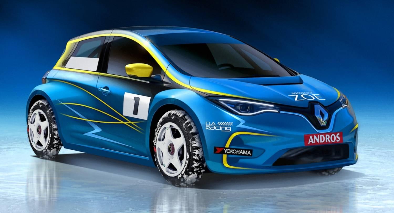 Renault Zoe que irá competir no Troféu Andros