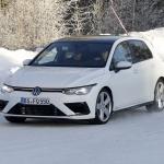 Fotos espia do novo VW Golf R