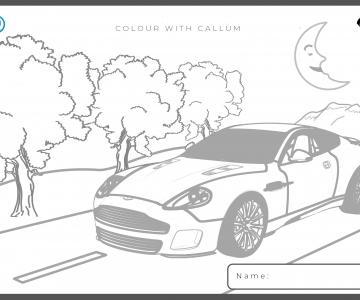 Desenho do Aston Martin Vanquish
