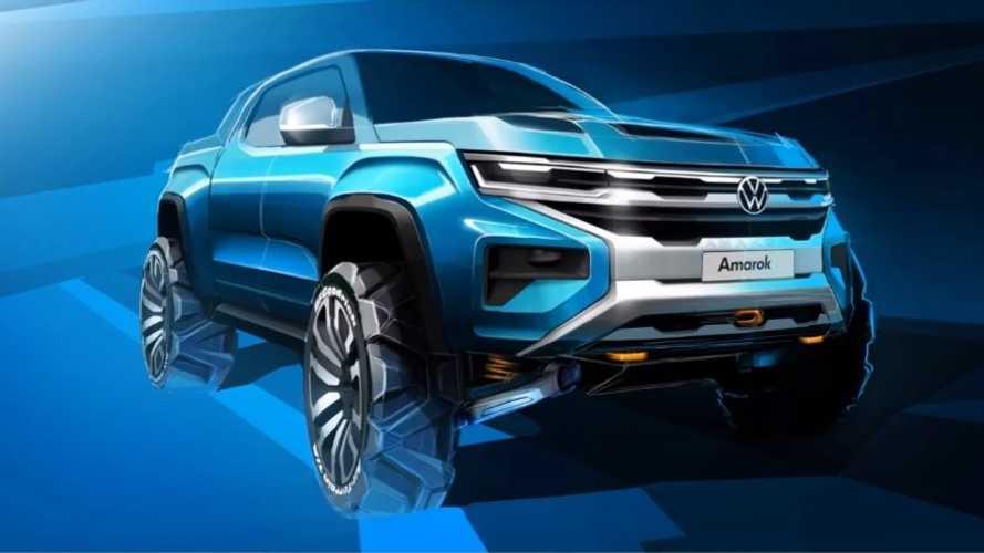 Sketch oficial da nova VW Amarok