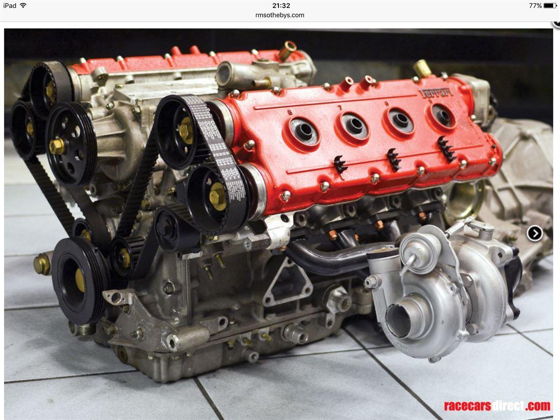 Motor V8 biturbo da Ferrari