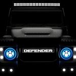 Teaser do Defender com motor Tesla