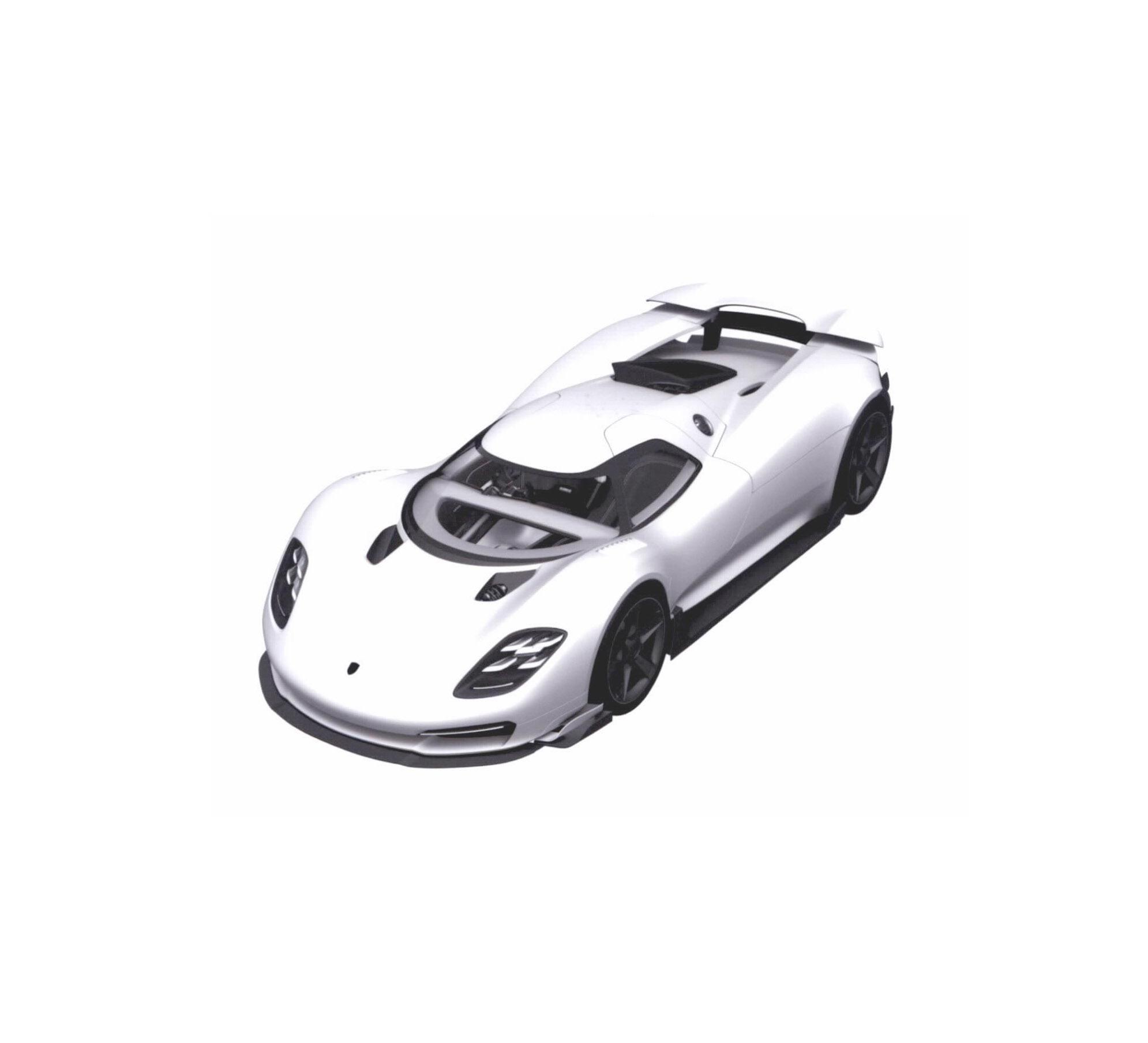Patente de novo hipercarro da Porsche