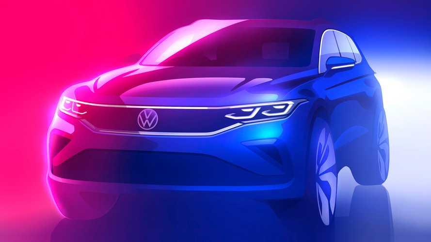 VW Tiguan facelift sketch