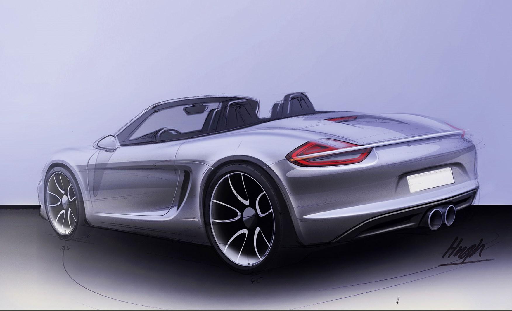 """Desenho de um novo Porsche """"lightweight"""""""