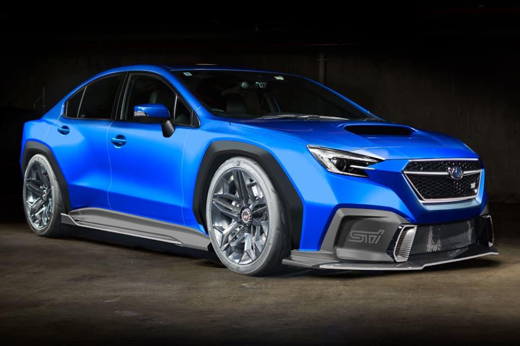 Imagem gerada por computador do novo Subaru WRX STI