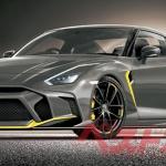 Render digital do último Nissan GT-R