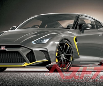 Render digital do último Nissan GT-R