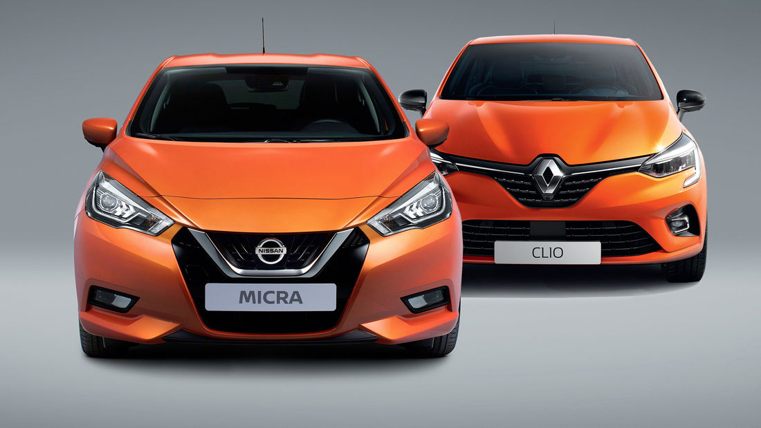 Nissan Micra e Renault Clio