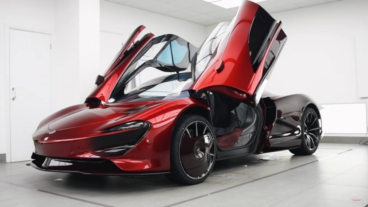 McLaren Speedtail Topaz Detailing