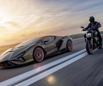 Lamborghini Sián e Ducati Diavel 1260