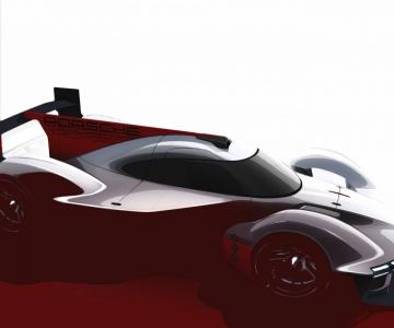 Sketch do novo protótipo de Le Mans da Porsche