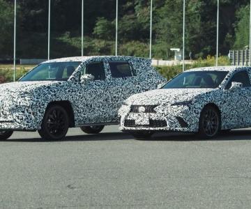 Spy shots dos novos Lexus