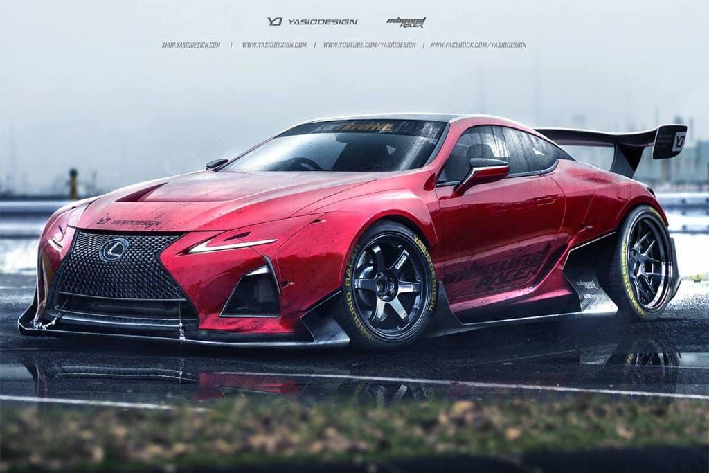 Lexus LC-F render