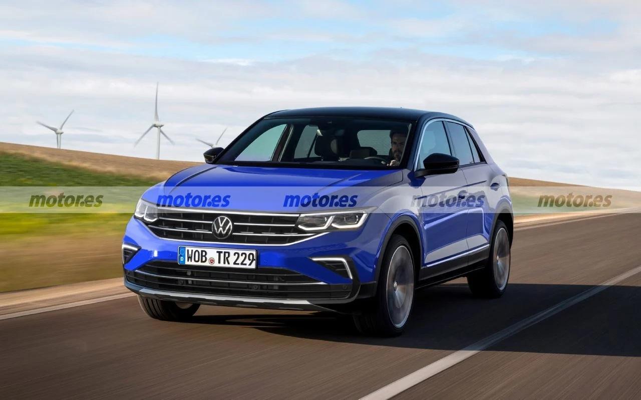 VW T-Roc facelift render