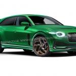 Render do primeiro modelo elétrico da Bentley